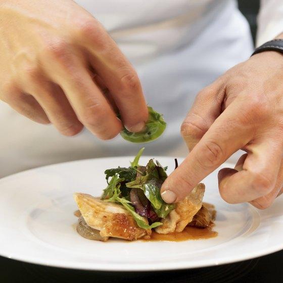Chef creating dish