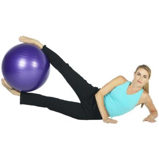 Stability Ball Side Lift: Lateral Leg Lift