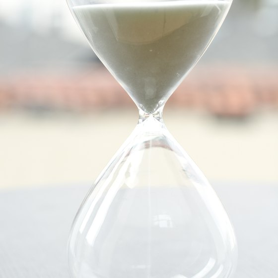 An hourglass is a simple way to convey the passage of time.