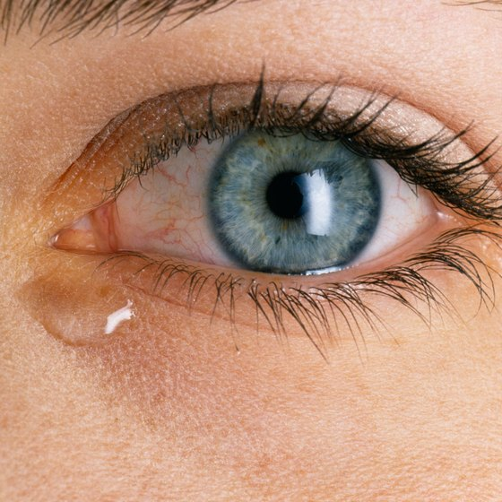 Tear ducts produce tears when the brain send signals to do so.