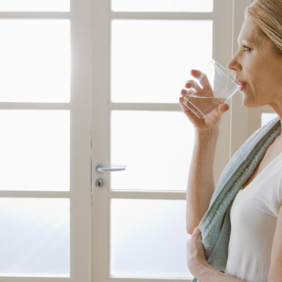 Drink water before and during a workout to minimize muscle shrinkage.