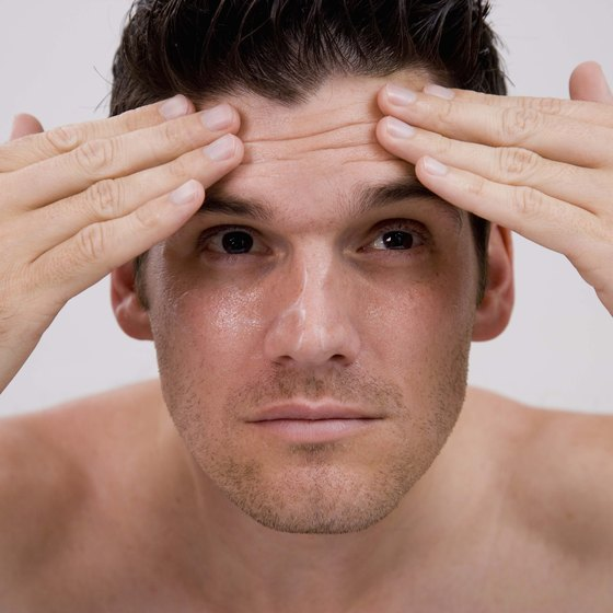 Horizontal creases on your forehead deepen when you activate the frontalis.