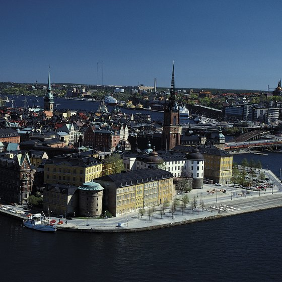 Stockholm, Sweden's capital, is home to over a million people.