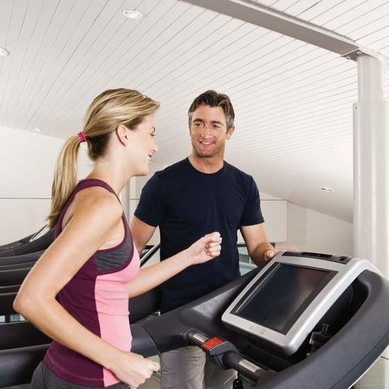 Walk on a treadmill to test your fitness.