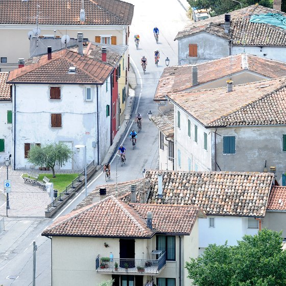 Town of Rimini, Italy in the Emilia-Romagna region