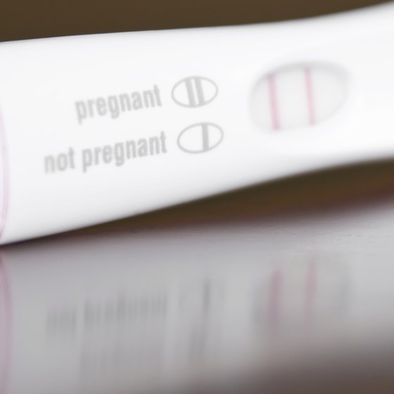 Positive pregnancy test.