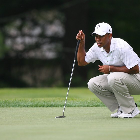 You must hit the green in regulation if you wish to putt for a birdie, as Tiger Woods did at the 2012 Greenbrier Classic.