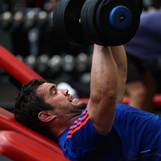 Incline dumbbell presses are compound pushing exercises.