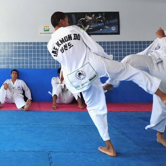 Tae kwon do burns calories at a high rate.