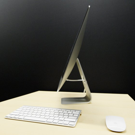 An iMac can connect to both wired and wireless networks.