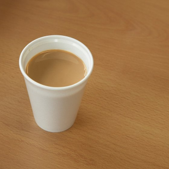 Coffee is frequently sold in Styrofoam cups.