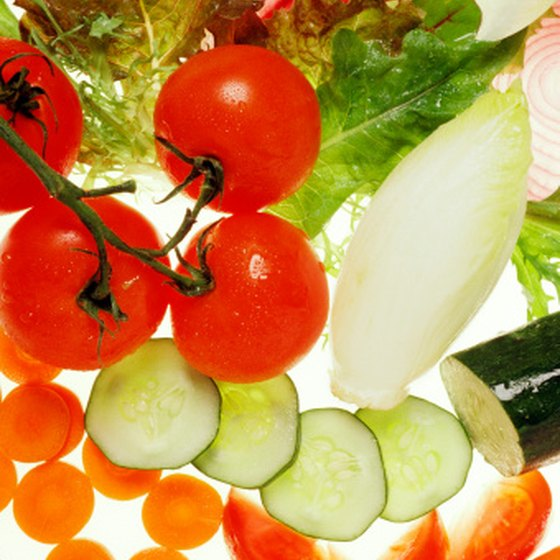 Vegetables are high in fiber and nutrients, and are virtually fat-free.
