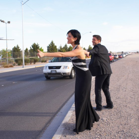 It's safer for female hitchhikers to be accompanied by a male.
