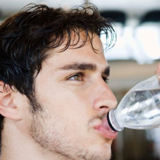 Replenish your body by drinking water before and after workouts.