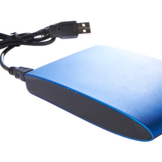 A USB portable hard drive works on a Mac.