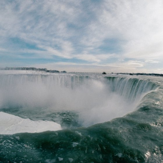 Niagara Falls is the site of a major border-crossing area between the United States and Canada.