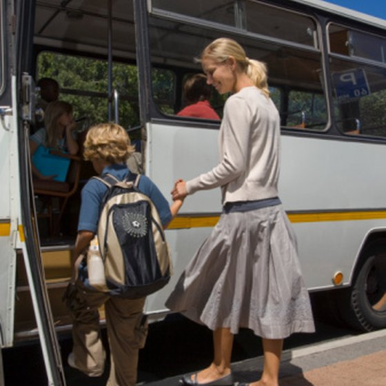 It is common for students to take class trips by bus.