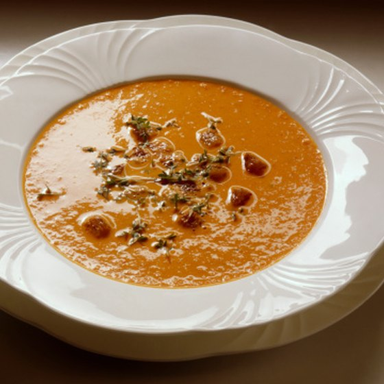 Creamy soups are permissible in a soft diet.