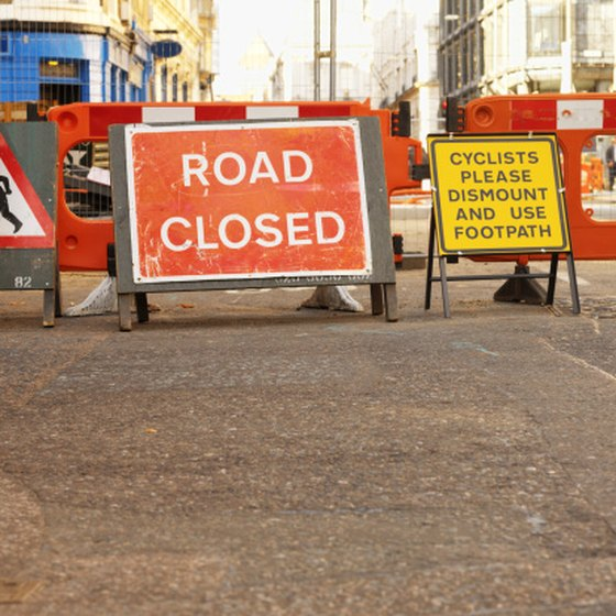 Road closures can cause you to get lost or make you late for where you're going.