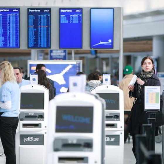 Boarding passes can be obtained by checking in online or at the airport.