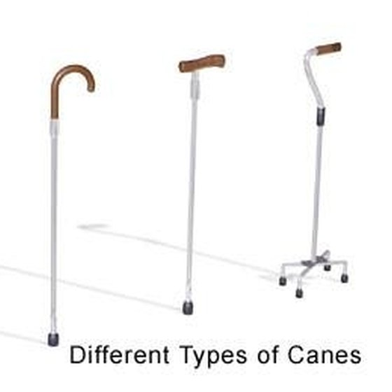 Three Types of Walking Canes.