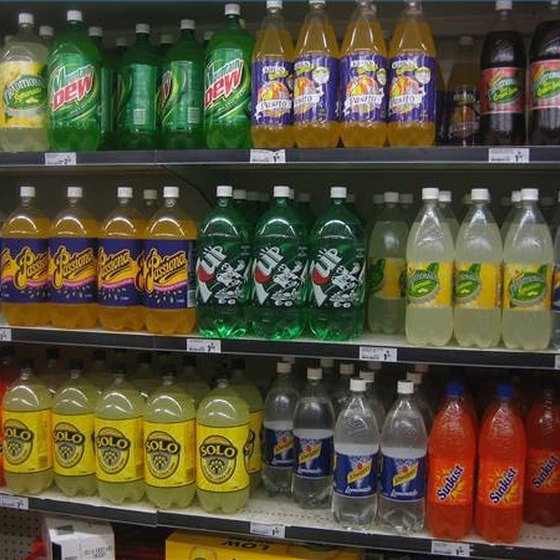 Soft drinks contain enormous amounts of sugar.