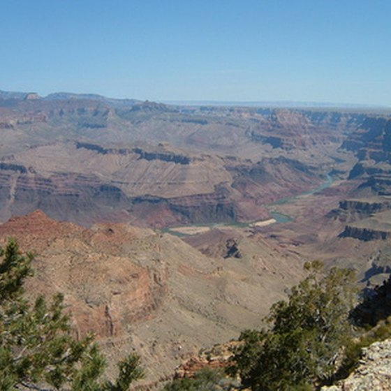 Grand Canyon National Park sprawls over a million acres in Arizona.