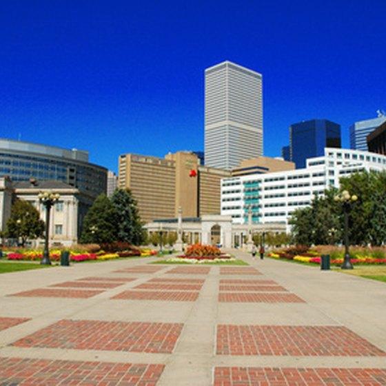 A sunny day in downtown Denver, Colorado