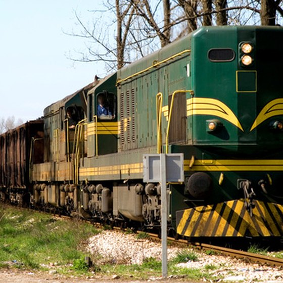 Steam engines have given way to modern diesel locomotives.