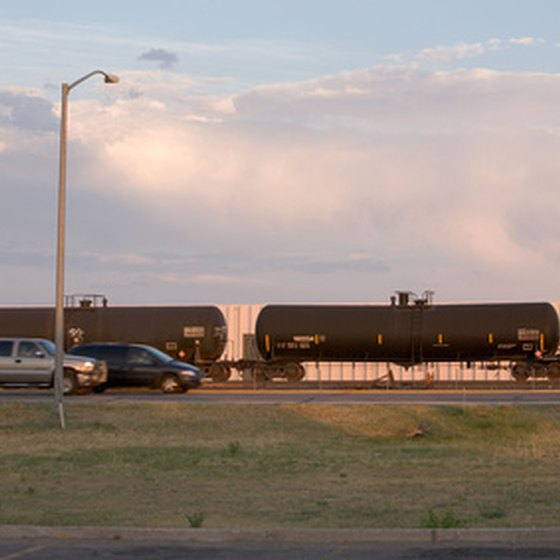 Freight trains are a common sight across America.