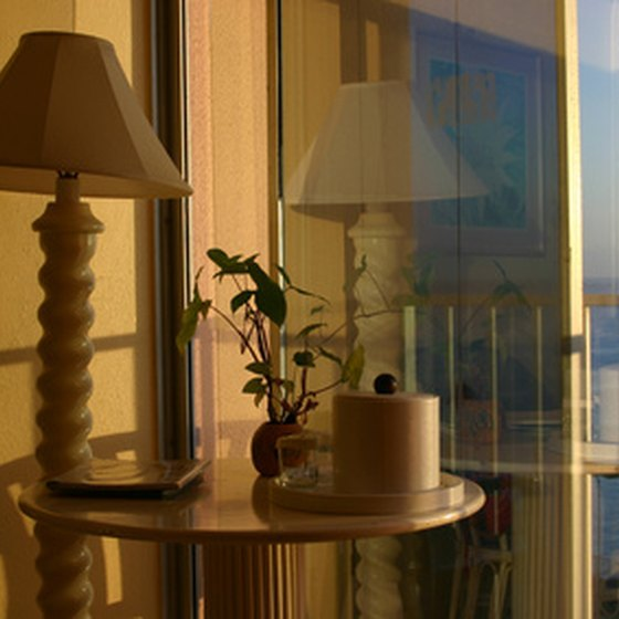 Beach hotels offer ocean-view rooms.