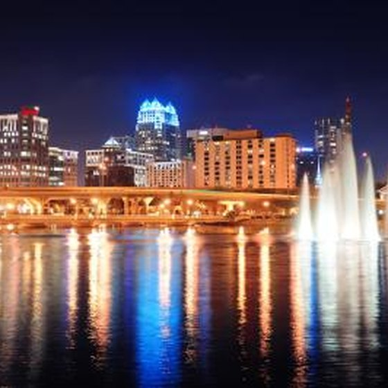 Night view of Orlando entertainment.