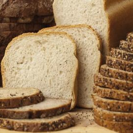 sliced bread loaves