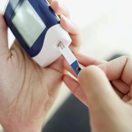 Close-up of a glucometer