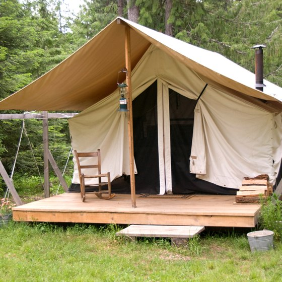 Portable Building Tents : How to build a camping platform getaway usa