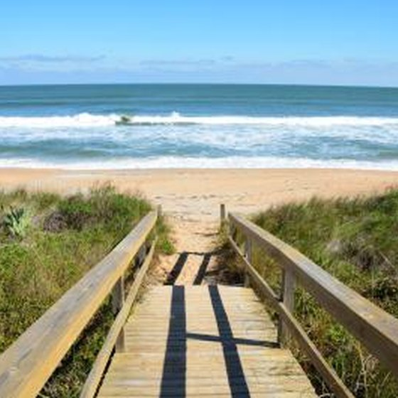 Walkway to beach in St. Augustine, FL.