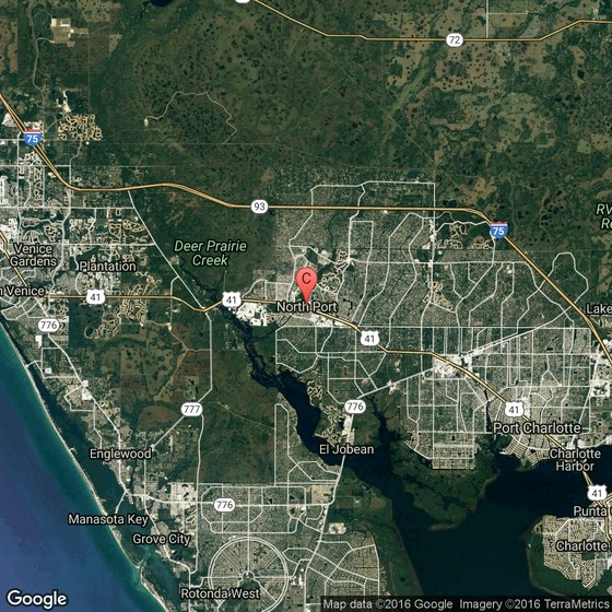 North Port Florida Map.Beaches That Allow Dogs In North Port Florida Usa Today