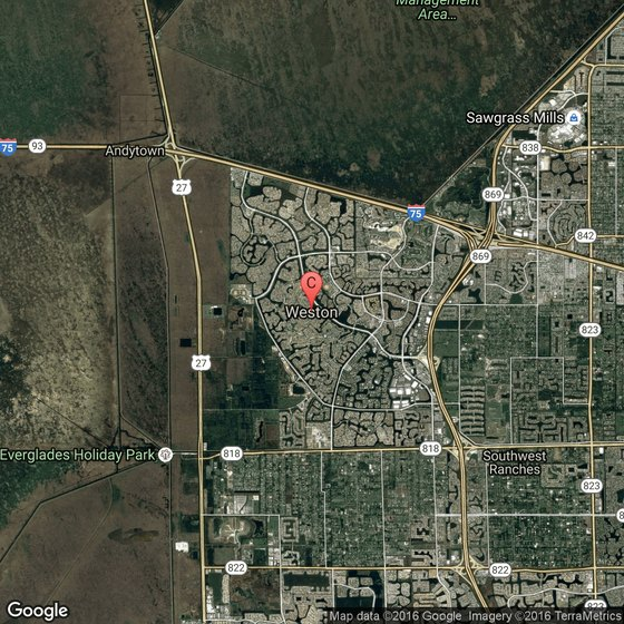 Attractions in Plantation, Florida on satellite view of orlando, satellite map view house, satellite maps of usa,