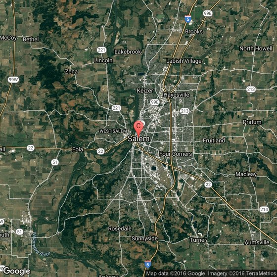 Salem Oregon Map Google.Rv Campgrounds In Salem Oregon Usa Today