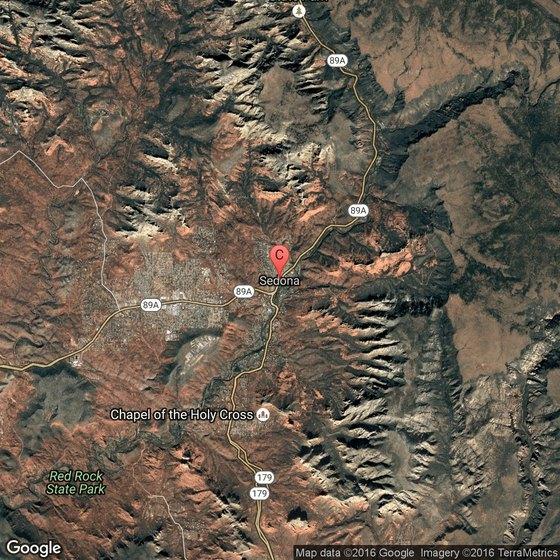 Map Of 89a Arizona.Sedona Arizona Camping Areas Usa Today