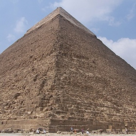 While some of the stone has been stripped, the grandeur of the Pyramids still impresses visitors today.