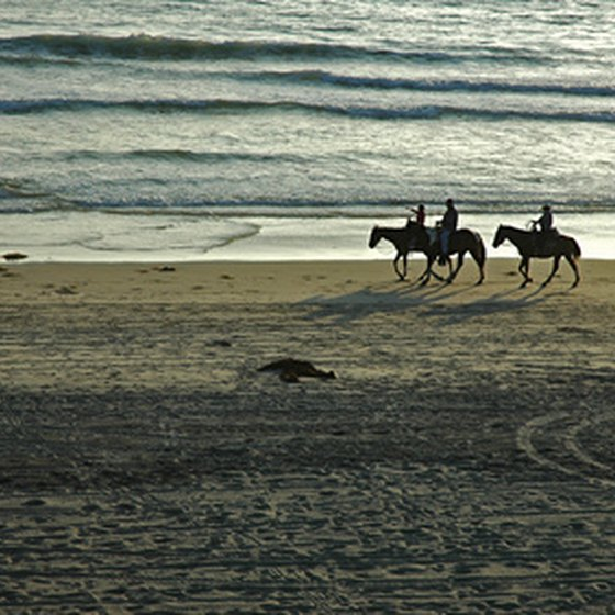 Horseback riding is a popular beach pastime in Rosarito.