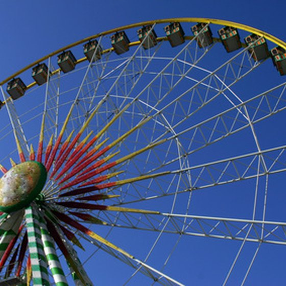 Amusement rides are a big part of Texas state fairs.