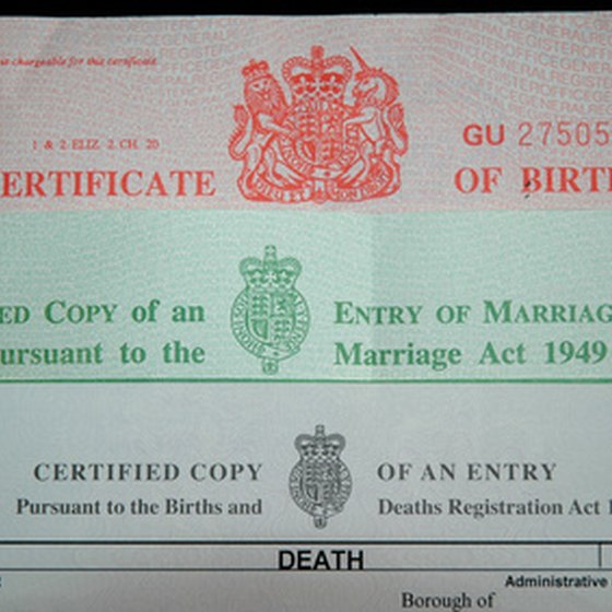 How to Get a Copy of a Child\'s Birth Certificate | USA Today
