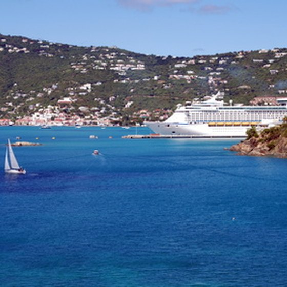 Cruise ships bring many tourists to St. Thomas in the U.S. Virgin Islands.