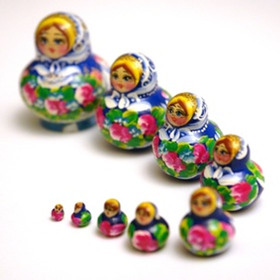 Russian stacking dolls, which range widely in quality, are popular souvenirs.