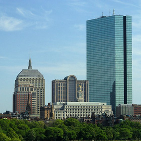 Skyline Of Boston S Back Bay
