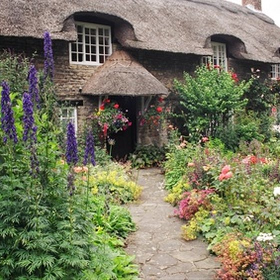 The cottage garden is a trademark of English villages.