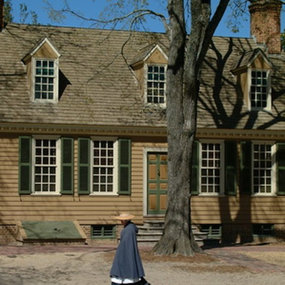 Colonial Williamsburg, Virginia is a popular tourist attraction.