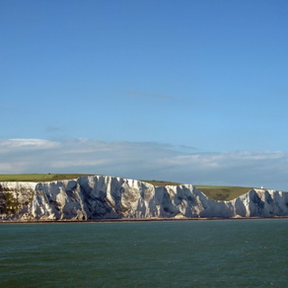 Dover is famous for its White Cliffs.